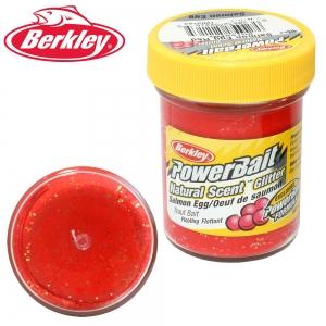 """фото - Паста форелевая Berkley """"Power Bait"""" Salmon Egg Red Glitter 50g"""