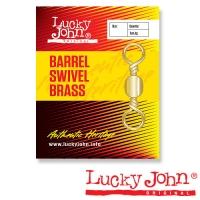 Вертлюги Lucky John Barrel Brass 018 10Шт.