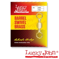 Вертлюги Lucky John Barrel Brass 022 10Шт.