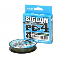 Леска Плетеная Sunline Siglon PE X4 150м 0.2 dark green