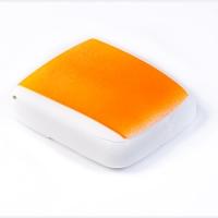 Мотыльница Salmo 24 8х8х2,5см оранж флюор