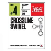 Трёхсторонние вертлюги LJ Crossline Swivel, размер 4, тест 28кг, 7шт.