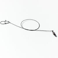 Поводок вольфрамовый оснащенный 20 см, 15кг, 1 шт.