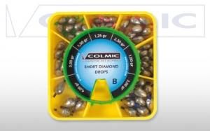 фото - Набор грузил-оливок COLMIC SHORT DIAMOND BOX B 7 размеров