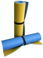 Коврик туристический двухслойный Желт. Голуб. 1800х600х12мм