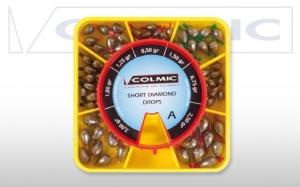 фото - Набор грузил-оливок COLMIC SHORT DIAMOND BOX A 7 размеров