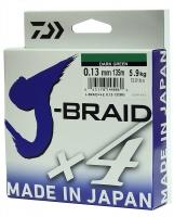 Леска плетеная DAIWA J-Braid X4 0,13мм 135м (зеленая)