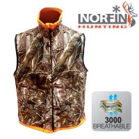 Жилет Флис. Norfin Hunting Reversable Vest Passion/orange 01 Р.s