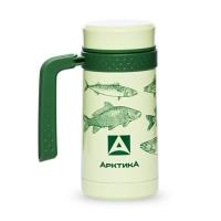 Термос-кружка Арктика с ручкой зеленый 412 0.5л