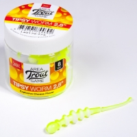 Слаги съедобные искусственные Lj Pro Series Tipsy Worm 2,3In (05.84)/t75 12Шт.