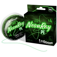 Леска плетеная LAGOON NEONRAY 110M, #1,0 FLUO-GREEN 0,165ММ 7,2КГ