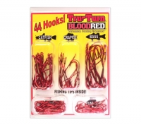 Набор крючков Tru Turn Original Cam-Action Hook blood red