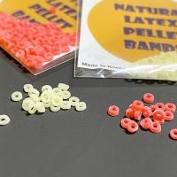 Резиночки для пучковяза в упаковке. Белые и красные в асоортименте.