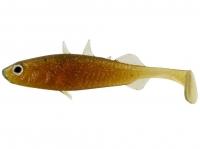 Виброхвосты WESTIN Stanley the Stickleback Shadtail 7.5cm 4g Motoroil Gold 6шт