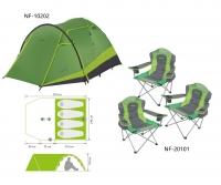 Комплект Norfin: палатка 4-х мест. RUDD 3+1 NF + 3 складных кресла RAUMA