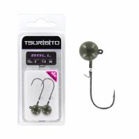 Джигголовка вольфрамовая Tsuribito Tungsten Jig Heads Ball, крючок 1, вес 7.2 г, 2 шт., цвет зеленая тыква