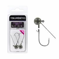Джигголовка вольфрамовая Tsuribito Tungsten Jig Heads Weedless Ball, крючок 1, вес 3.5 г, 3 шт., цвет зеленая тыква