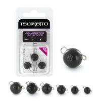 Чебурашка вольфрамовая Tsuribito Tungsten Weights Calibrated Jig Sinker, 1.5 г, 8 шт., цвет черный