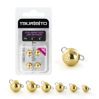 Чебурашка вольфрамовая Tsuribito Tungsten Weights Calibrated Jig Sinker, 10 г, 2 шт., цвет золото