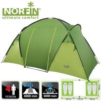 Палатка Кемпинговая 4-Х Местная Norfin Burbot 4 Nf