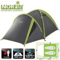 Палатка Алюминиевые Дуги 3-Х Местная Norfin Carp 2+1 Alu Nf