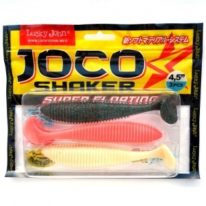 фото - Виброхвосты Съедобные Lj Pro Series Joco Shaker 4.5In(11.43)/mix 3Шт.