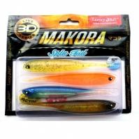 Виброхвосты Lj 3D Series Makora Split Tail 5.0In(12,70)/mix1 4Шт.