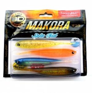 фото - Виброхвосты Lj 3D Series Makora Split Tail 5.0In(12,70)/mix1 4Шт.