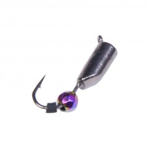 фото - Мормышка вольфрамовая Lucky John СТОЛБИК с петел. и диско шаром хамелеон (Гвоздешарик)