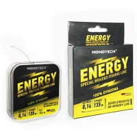 Леска Плетеная MONOTECH ENERGY Black 135m 0.25