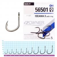 Крючки OWNER ISEAMA X Серия 56501 Размер 8, 7шт
