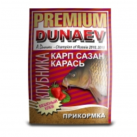 ПРИКОРМКА DUNAEV PREMIUM Карп-Сазан-Карась КЛУБНИКА 1 кг