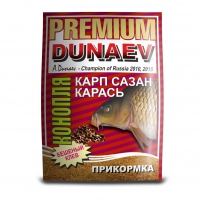 ПРИКОРМКА DUNAEV PREMIUM Карп-Сазан-Карась КОНОПЛЯ 1 кг