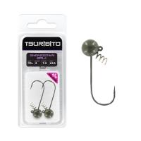 Джигголовка вольфрамовая Tsuribito Tungsten Jig Heads Shakedown Ball, крючок 2, вес 7.2 г, 2 шт., цвет зеленая тыква