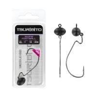 Джигголовка вольфрамовая Tsuribito Tungsten Jig Heads Swing Football, крючок 3/0, вес 10.6 г, 1 шт., цвет цвет черный матовый