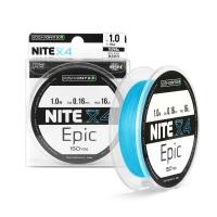 Леска плетеная Yoshi Onyx NITE Epic х4 Light Blue, 1.5#, 0.20мм, 135м